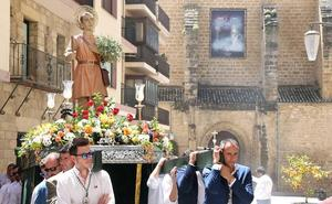 Procesión de San Isidro por las calles de Úbeda con motivo de su festividad