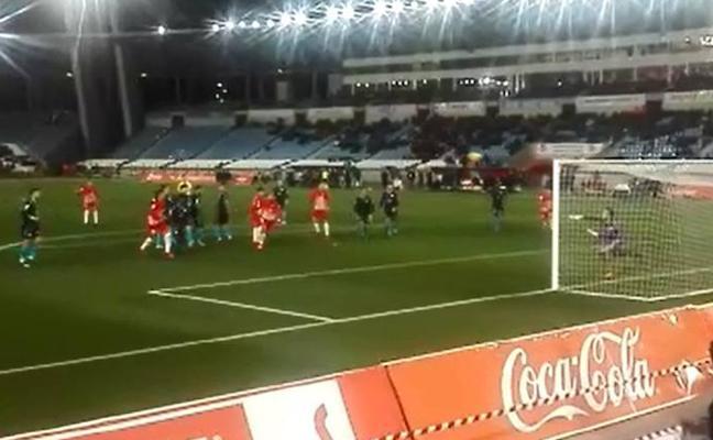 Así se vio el ¡golazo! del Almería al Lugo desde la grada del Estadio