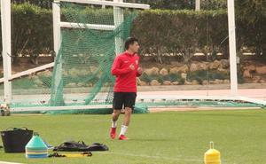 Gaspar se recupera a tiempo y estará con el Almería en Valladolid