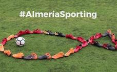 El Sporting recuerda a Gabriel con motivo de su visita a Almería