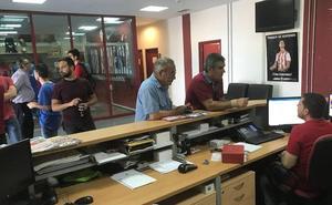 La afición del Almería responde