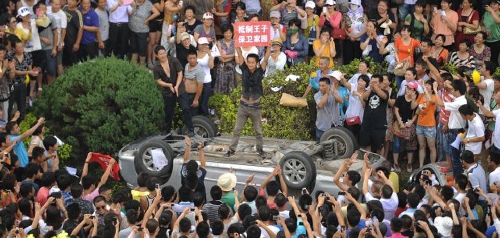 Los chinos sí que protestan