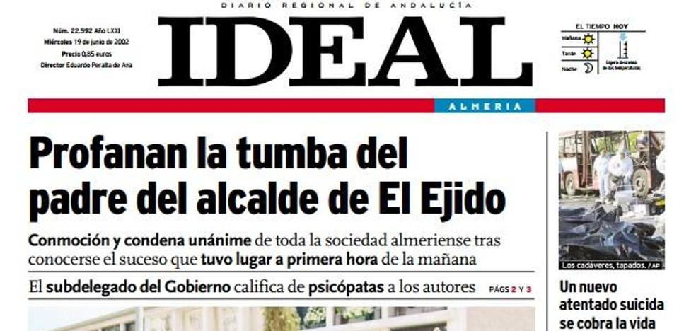 Profanan la tumba del padre del alcalde de El Ejido