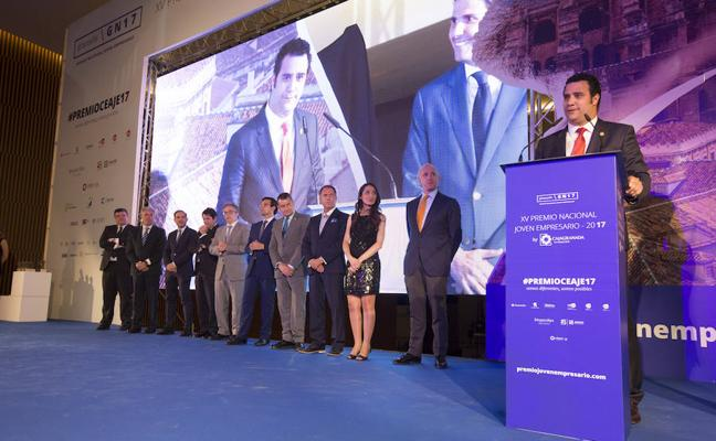 Raúl Berdonés, ganador del Premio Nacional Joven Empresario