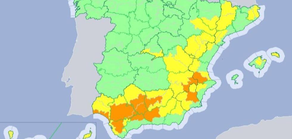 Almería, la única andaluza que se libra hoy de la ola de calor
