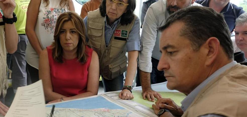 Susana Díaz: «No vamos a permitir que se recalifique ni un solo metro incendiado»