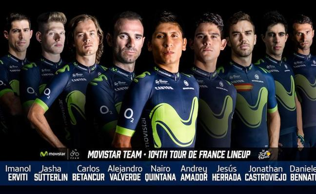 Movistar Team anuncia su nueve para el Tour
