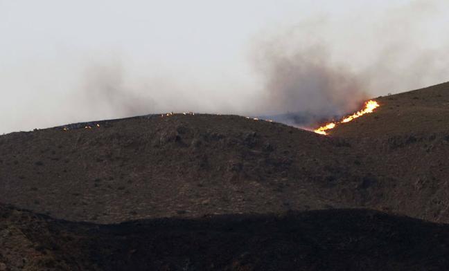 La alcaldesa de Níjar apunta a un cable como causa del fuego