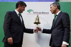 Unicaja esquiva a los bajistas con un debut del 6% al alza en Bolsa