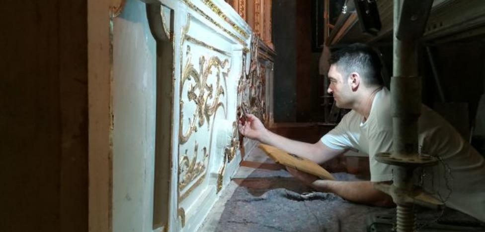 Una denuncia anónima paraliza la restauración del retablo del Rescate