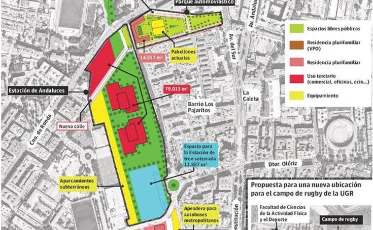 El plan para financiar el soterramiento del AVE incluye 1.900 viviendas y 126.000 metros 'verdes'