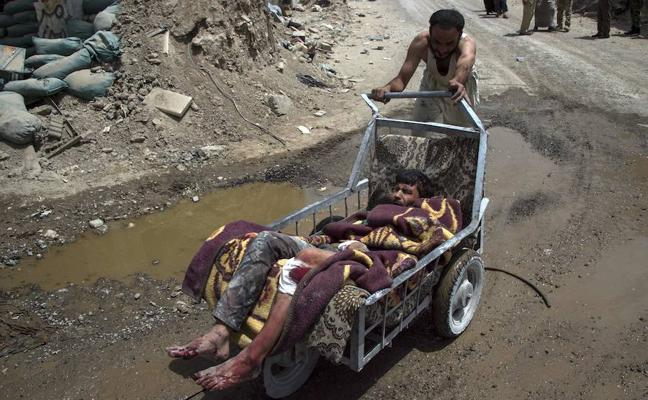 Mujeres desesperadas en Mosul