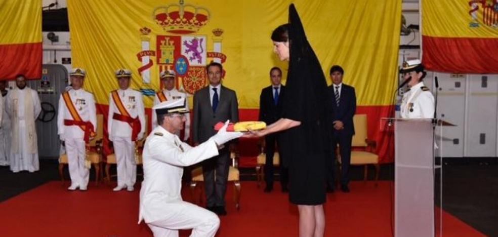 Ruth Beitia, madrina del buque 'Castilla'