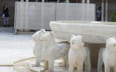 La Alhambra ultima la primera fase de intervención en el Patio de los Leones