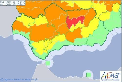 Almería, la única andaluza que se salva de la ola de calor