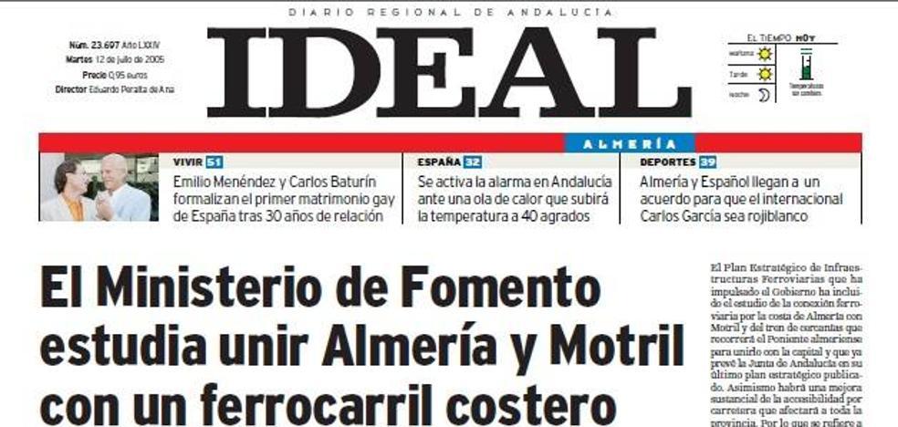 ¿Un ferrocarril costero entre Almería y Motril?