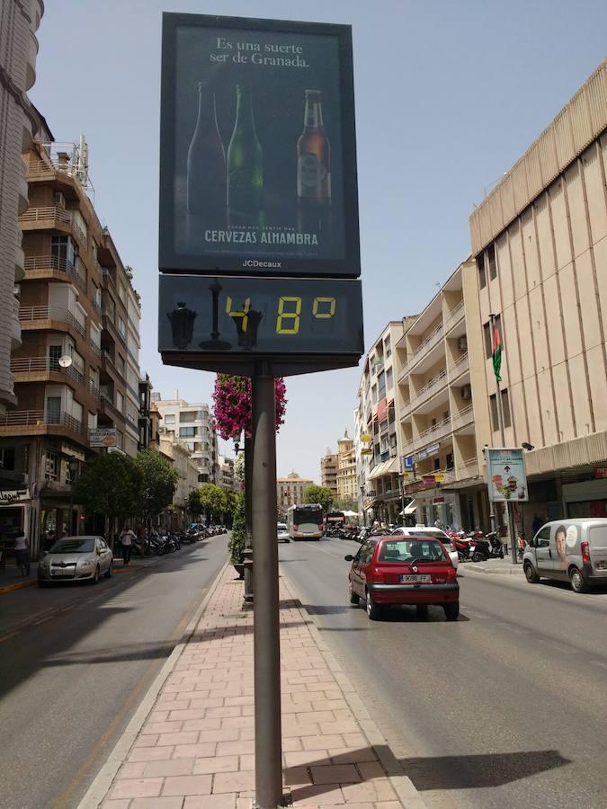 'Arden' los termómetros de Granada