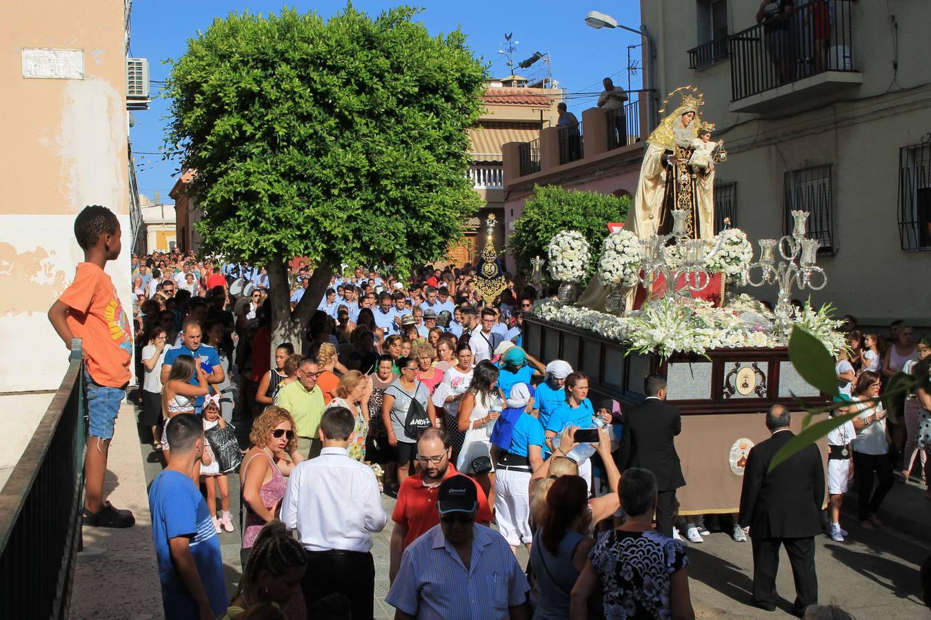 Pescadería honra a la Virgen del Carmen
