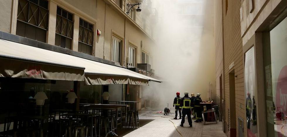 Sofocado el incendio en la cocina de un céntrico restaurante de Granada