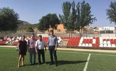 Campillo de Arenas mejora su campo de fútbol-7 a través del Plan Especial de Empleo de Diputación