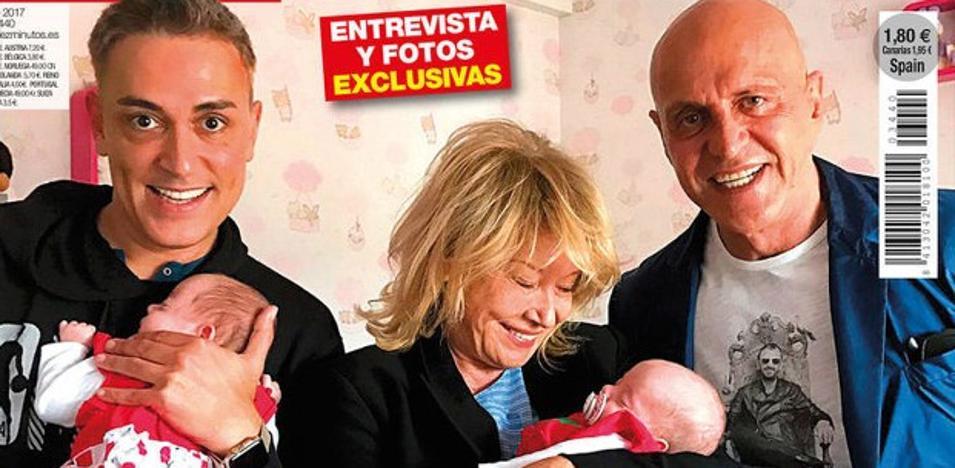 Kiko Hernández presenta a sus dos hijas