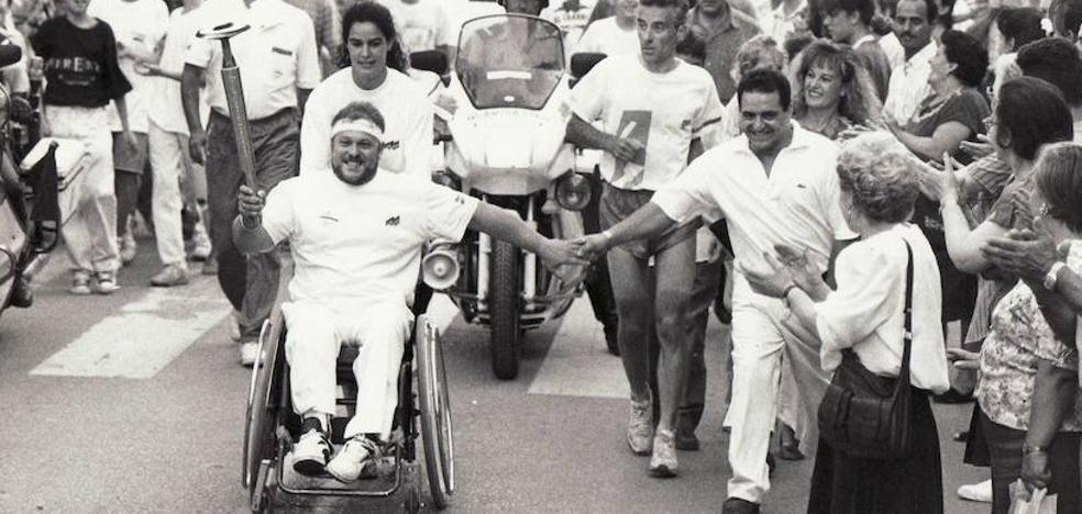 La antorcha olímpica en Granada