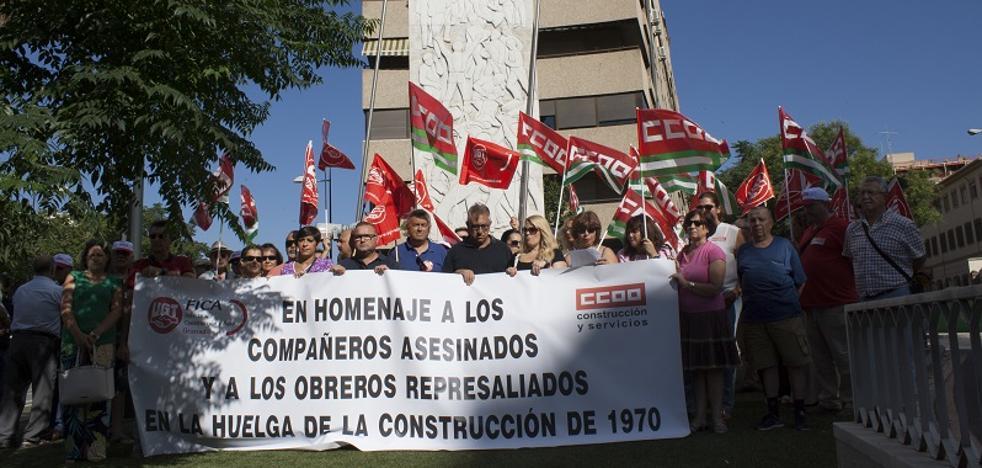 Los sindicatos recuerdan a los tres obreros fallecidos en 1970