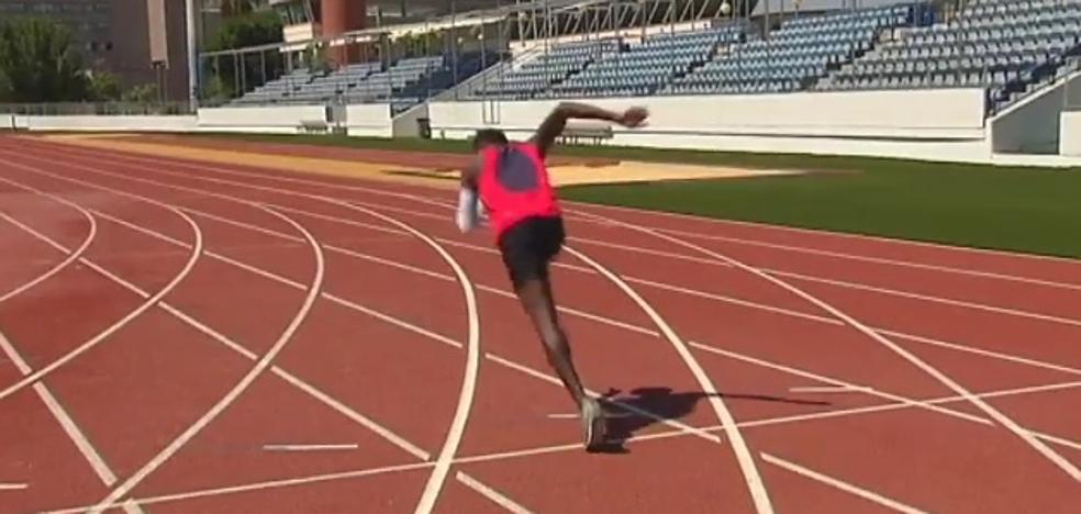 Llegó en patera y ahora es subcampeón de España de los 3.000 metros