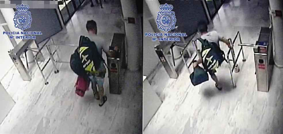 Dos gimnasios, 24 robos en taquillas y un detenido en Almería