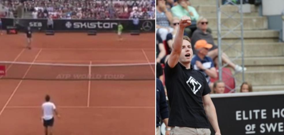 Un nazi se cuela en el partido entre Ferrer y Verdasco
