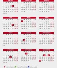 Festivos del calendario laboral: Puente de la Inmaculada, Navidad y Semana Santa 2018