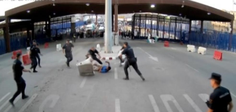 Así ha sido la espectacular detención del marroquí que ha entrado con un cuchillo en Melilla al grito de 'Alá es grande'