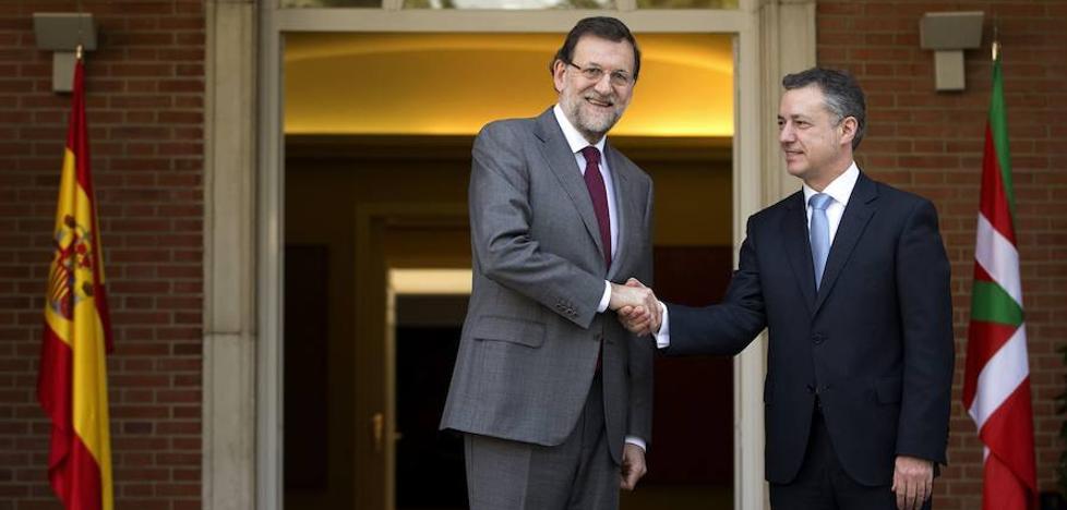 Rajoy y Urkullu se reunieron en secreto la semana pasada en La Moncloa