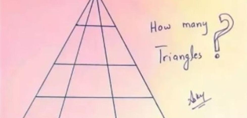 ¿Cuántos triángulos ves aquí? El nuevo ingenioso reto de Internet