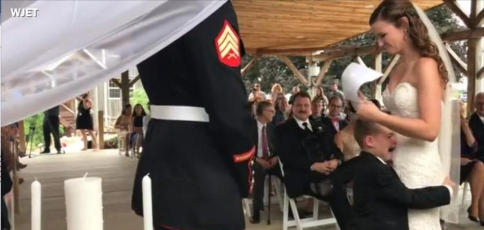 El llanto desconsolado de un niño al escuchar las palabras de su madrastra en su boda