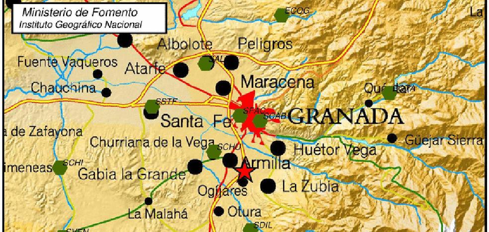 Ogíjares, epicentro de un terremoto de 1,8 grados