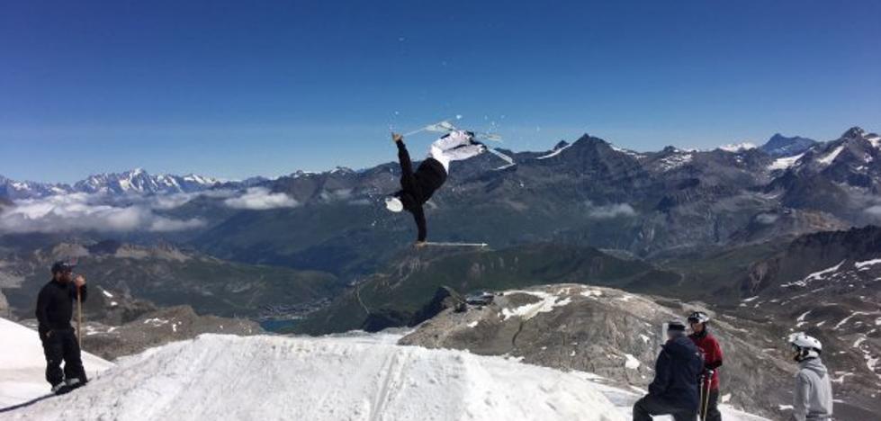 Esquiadores de agosto