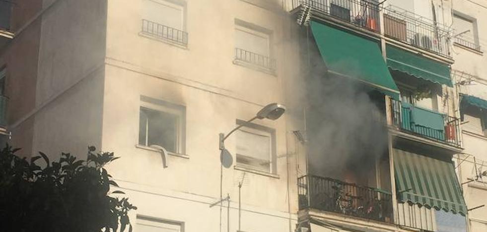Un camping gas origina un incendio en el Zaidín