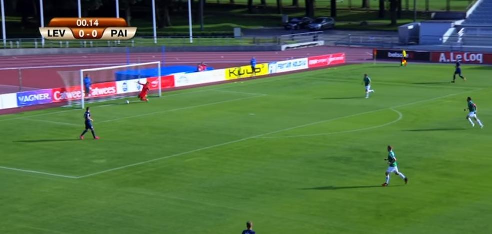 El gol más cómico de la historia: sin tocar el balón a los 14 segundos