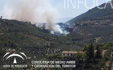 Estabilizado el incendio forestal en el Paraje El Portichuelo, en Los Villares