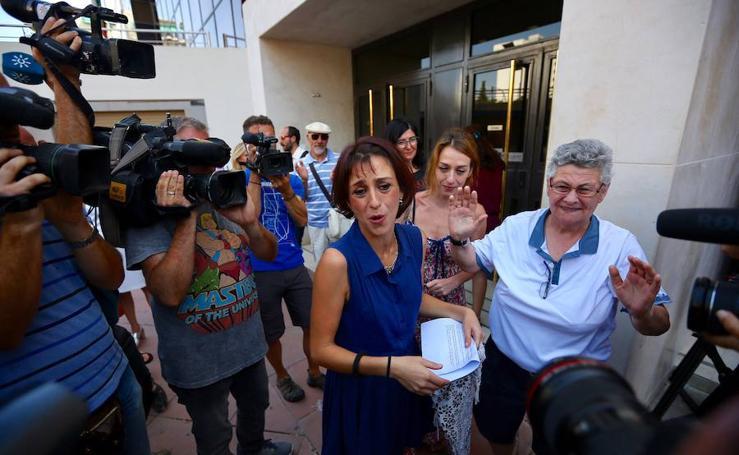 Juana Rivas, en el juzgado