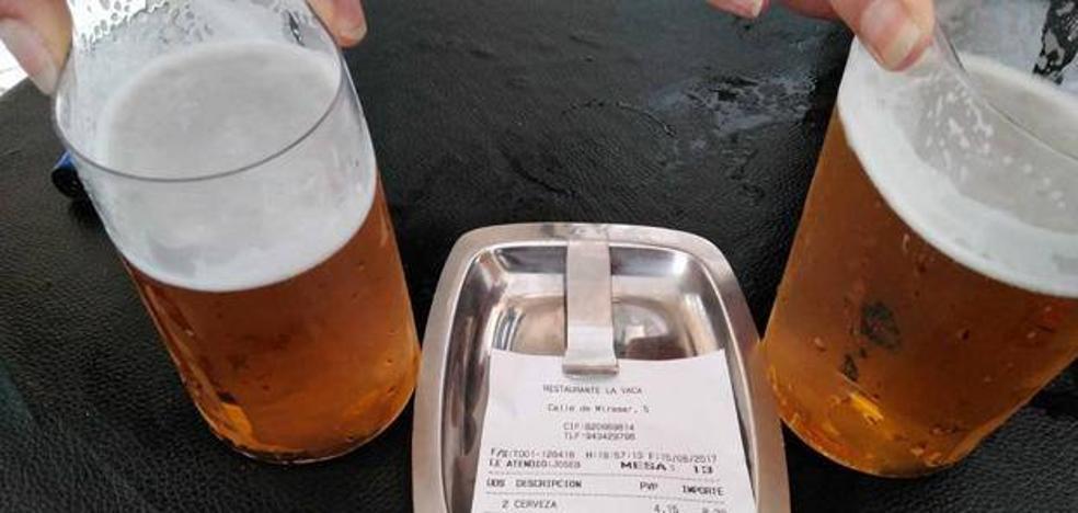 """El """"sablazo"""" por dos cervezas en un bar de España"""