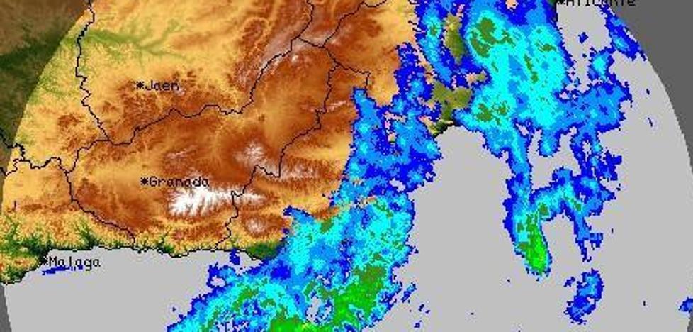 Se amplía el aviso naranja por lluvias en Almería