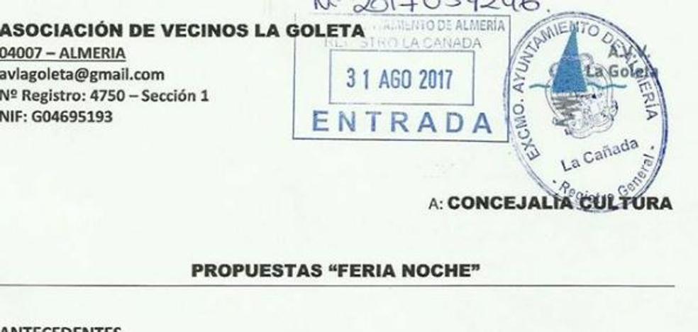 Vecinos de La Goleta proponen una reordenación de la feria de la noche ante las molestias por los ruidos