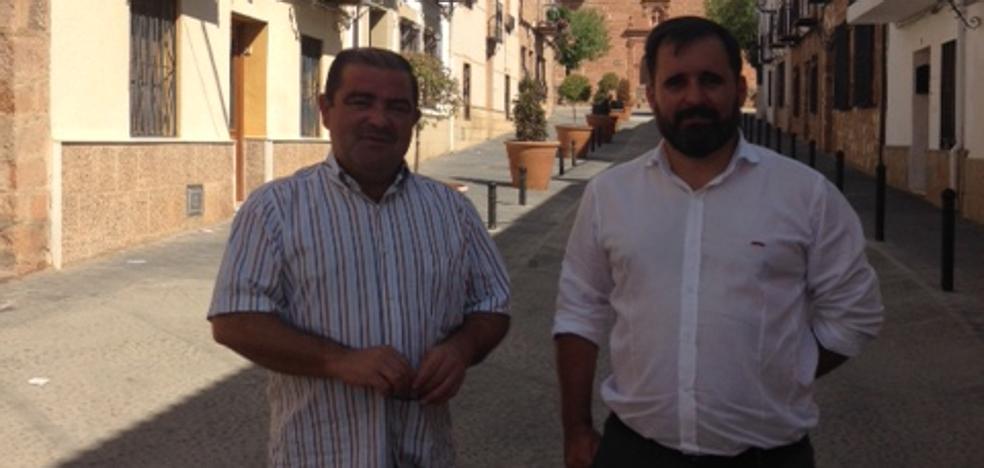 El Plan de Apoyo a Municipios de la Diputación permite reacondicionar la calle Jesús del Llano de Baños de la Encina