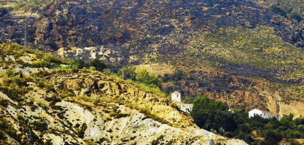 Cinco hectáreas quemadas en la Alpujarra