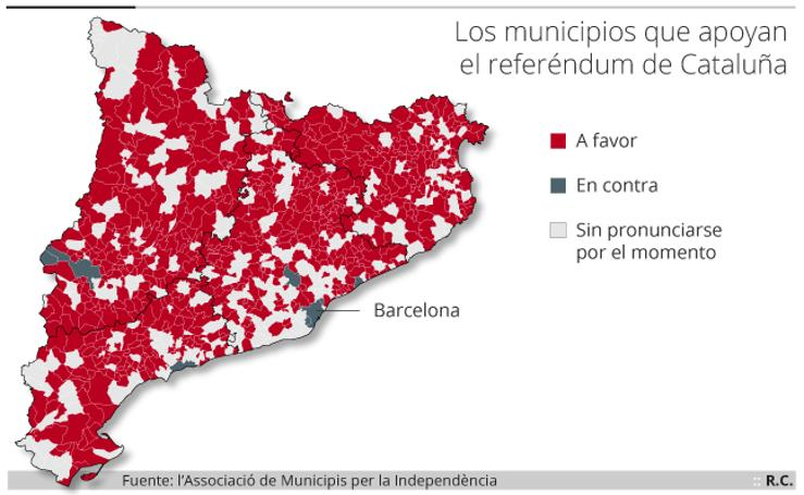 Municipios que apoyan el referéndum
