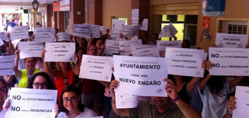 """Fuerte """"cabreo"""" en Las Fuentezuelas con el centro social"""