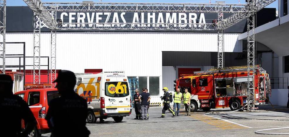 Ocho heridos por una fuga de amoníaco en Cervezas Alhambra