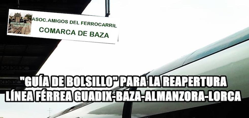 Reivindican la reapertura de la línea Guadix-Baza-Lorca con una guía de bolsillo para Rajoy
